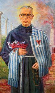 St. Maximilian Kolbe Two Crowns