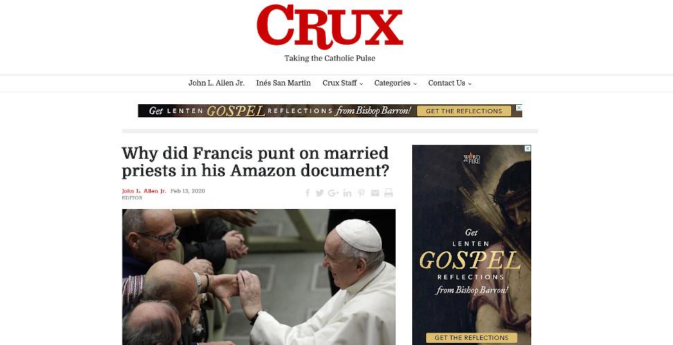 Crux | Catholic Link Roundup | Pope Francis