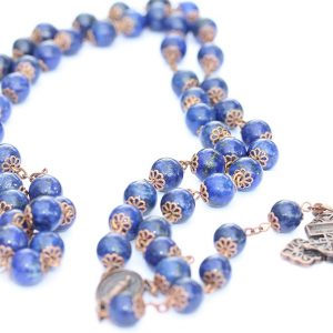 Rosary Beads: Lapis Lazuli and Copper